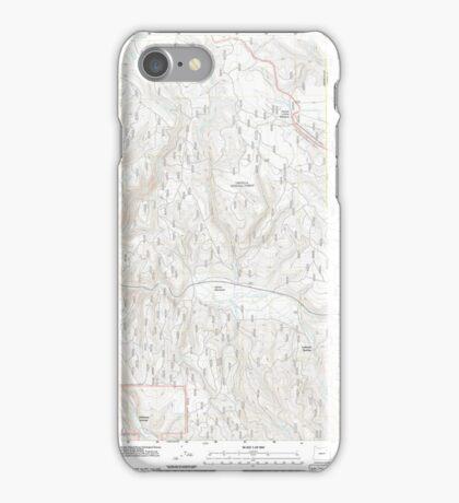 USGS Topo Map Oregon Lehman Springs 20110822 TM iPhone Case/Skin