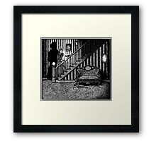 Something Slithery Beneath the Settee Framed Print