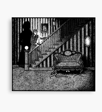 Something Slithery Beneath the Settee Canvas Print