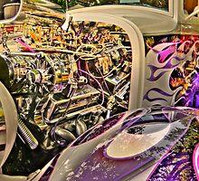 1930s purple Ford by pdsfotoart