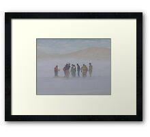 Rescue at Tiscornia Beach Framed Print