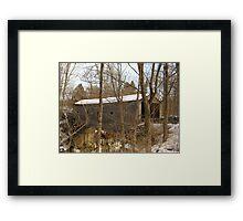 Bulls bridge Framed Print