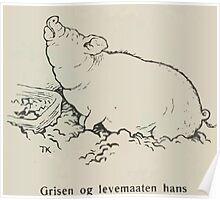 Theodor Kittelsen Grisen og levemaaten hans Eventyr1915p106 Poster