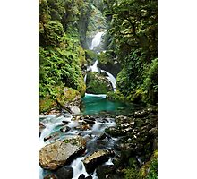 Mackay Falls, Fiordland National Park Photographic Print