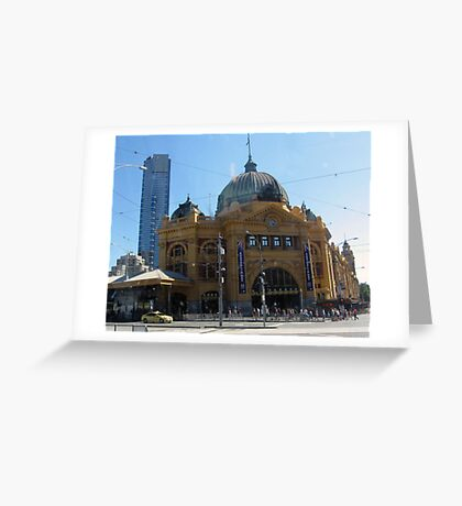 flinders street station Greeting Card