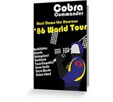Cobra on Tour Greeting Card