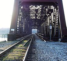 Train Bridge by heyheymandykay