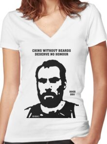 Chins without Beards - 2011 Women's Fitted V-Neck T-Shirt