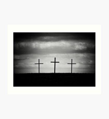 Three Wooden Crosses Art Print