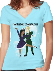Mansion Dreams Women's Fitted V-Neck T-Shirt