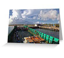 Ferry Docking at Sta. Fe Wharf, Bantayan Island, Cebu Greeting Card