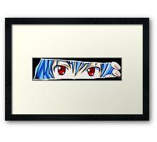 neon genesis evangelion rei ayanami anime manga shirt Framed Print