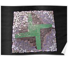 St Bridget Cross Mosaic Poster
