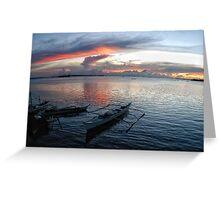 Sundown, Bantayan Island, Cebu, Philippines Greeting Card