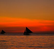 Sails in the sunset by robigeehk