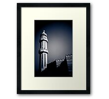 Mosque in blue Framed Print