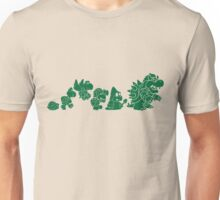 Reptilian Evolution in The Mushroom Kingdom (Green) Unisex T-Shirt