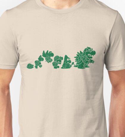 Reptilian Evolution in The Mushroom Kingdom (Green) Unisex T-Shirt