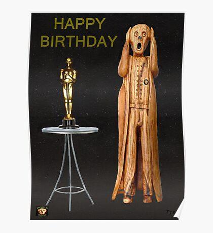 The Scream World Tour Oscars Happy Birthday  Poster