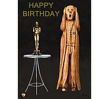 The Scream World Tour Oscars Happy Birthday  Photographic Print