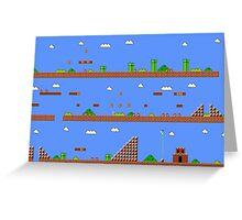 Super Mario Bros World 1-1 Greeting Card