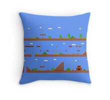 Super Mario Bros World 1-1 Throw Pillow