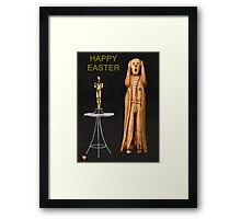 The Scream World Tour Oscars Happy Easter Framed Print