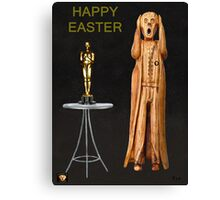 The Scream World Tour Oscars Happy Easter Canvas Print