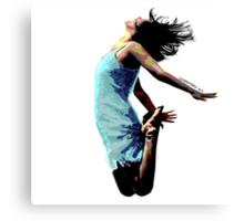 Jump for Joy - A Self-Portrait Canvas Print