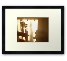 Shadow Play - child Framed Print
