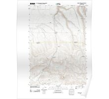 USGS Topo Map Oregon Fossil North 20110903 TM Poster