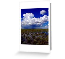 Flooding rains Greeting Card