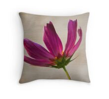 Textured Cosmea Throw Pillow