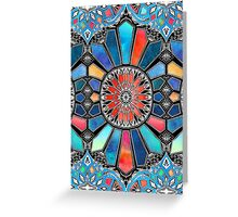 Iridescent Watercolor Brights on Black  Greeting Card