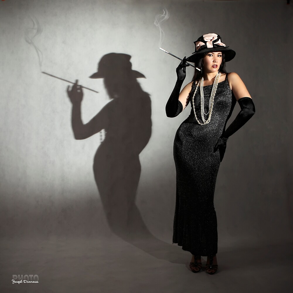 The smoking shadow by zemi