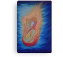 On fire - my mother's battle with cancer and radiation therapy Canvas Print