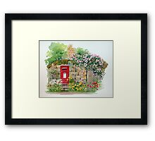 Village Postbox Framed Print