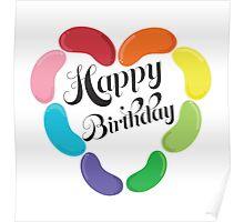 Happy Birthday Jelly Beans Poster
