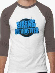 Sirens Do It Better (blue) Men's Baseball ¾ T-Shirt