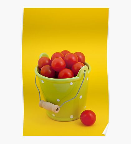 Bucket of cherry tomatoes Poster