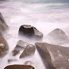 Misty rocks by John Vandeven