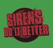 Sirens Do It Better (red) One Piece - Short Sleeve