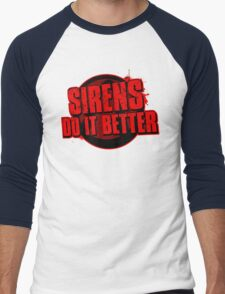 Sirens Do It Better (red) Men's Baseball ¾ T-Shirt