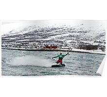 Kiting in the arctic  Poster