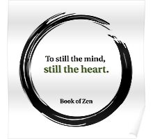 Zen Heart & Mind Quote Poster