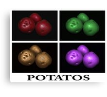 potato trio: quatro Canvas Print