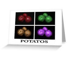 potato trio: quatro Greeting Card