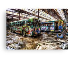 The wheels on the bus ... Canvas Print