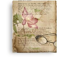 Book of Love - Clematis Canvas Print