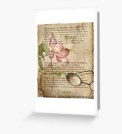 Book of Love - Clematis Greeting Card